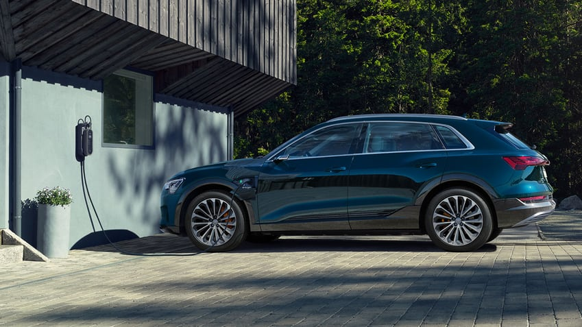 Electric has gone Audi. The Audi e-tron.