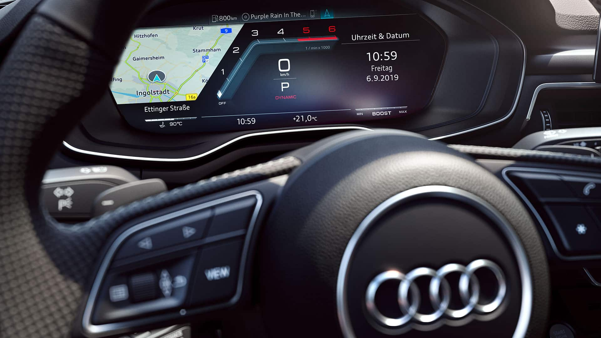 Audi virtual cockpit in the Audi S5 Sportback TDI